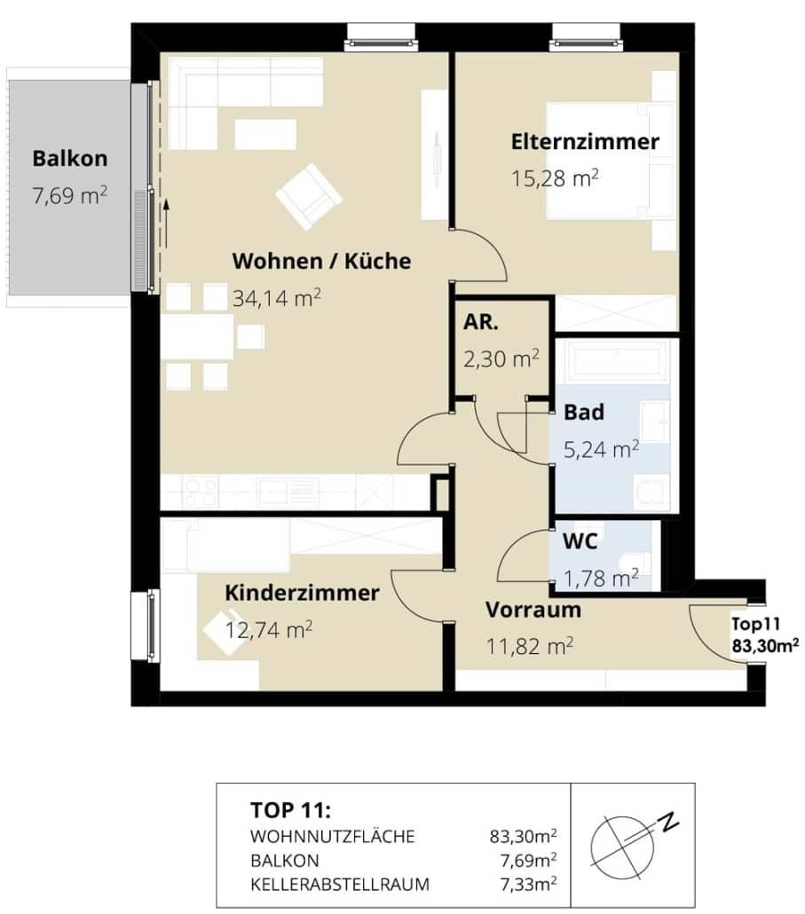 Immobilie von Wohnbau Bergland in Burkerstraße Mittersill Top 11 2. OG #2