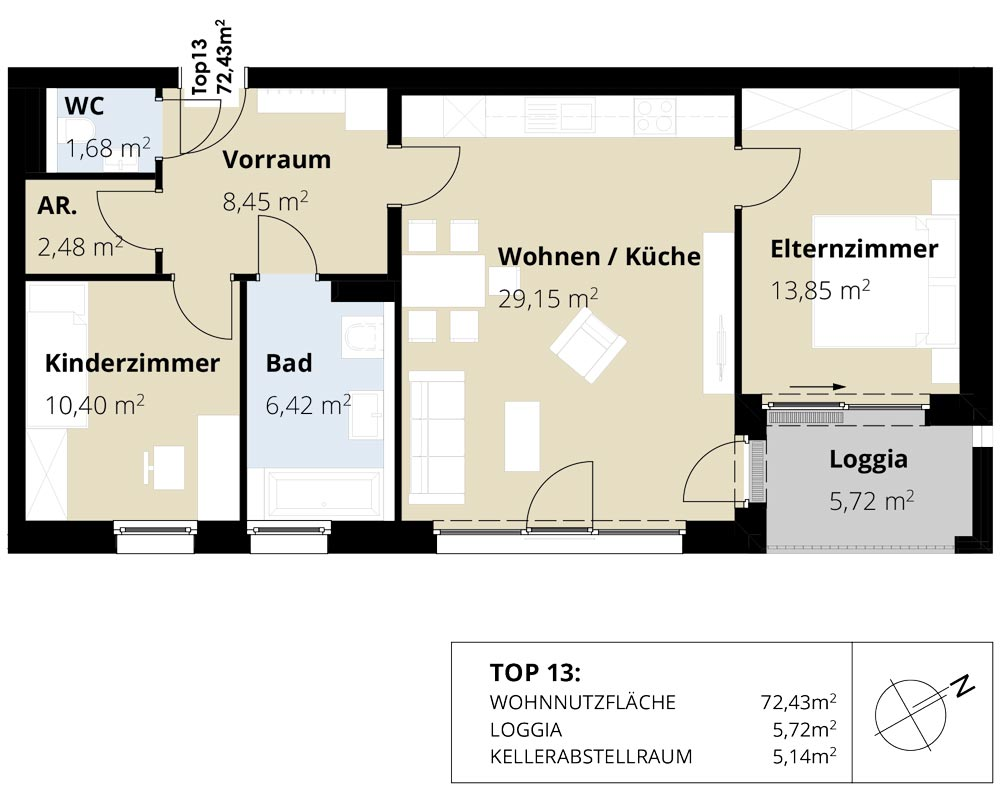 Immobilie von Wohnbau Bergland in Burkerstraße Mittersill Top 13 2. OG #2