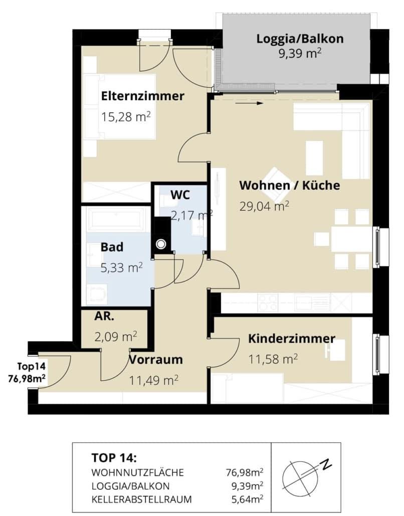 Immobilie von Wohnbau Bergland in Burkerstraße Mittersill Top 14 2. OG #2