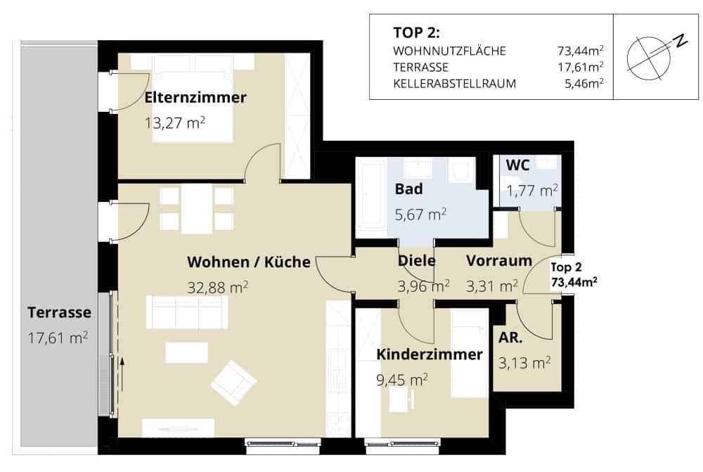 Immobilie von Wohnbau Bergland in Burkerstraße Mittersill Top 2 EG #2