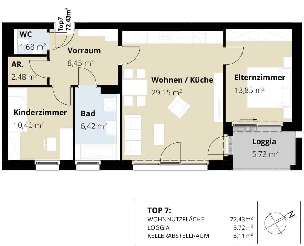 Immobilie von Wohnbau Bergland in Burkerstraße Mittersill Top 7 1. OG #2
