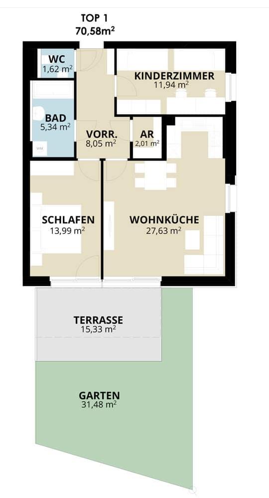 Immobilie von Wohnbau Bergland in Wohn(t)raum mit Sonnblick in Goldegg Goldegg im Pongau Top1 – EG #1