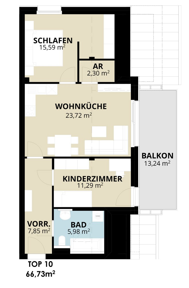 Immobilie von Wohnbau Bergland in Wohn(t)raum mit Sonnblick in Goldegg Goldegg im Pongau Top10 – DG #1