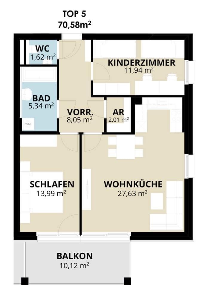 Immobilie von Wohnbau Bergland in Wohn(t)raum mit Sonnblick in Goldegg Goldegg im Pongau Top5 – 2. OG #1