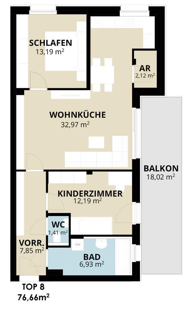 Immobilie von Wohnbau Bergland in Wohn(t)raum mit Sonnblick in Goldegg Goldegg im Pongau Top8 – 2. OG #1
