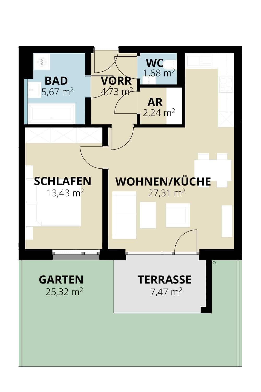 Immobilie von Wohnbau Bergland in Zentral und doch im Grünen Radstadt Top 2 #1