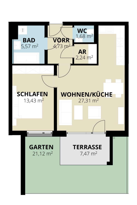 Immobilie von Wohnbau Bergland in Zentral und doch im Grünen Radstadt Top 3 #1