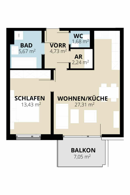 Immobilie von Wohnbau Bergland in Zentral und doch im Grünen Radstadt Top 11 #1