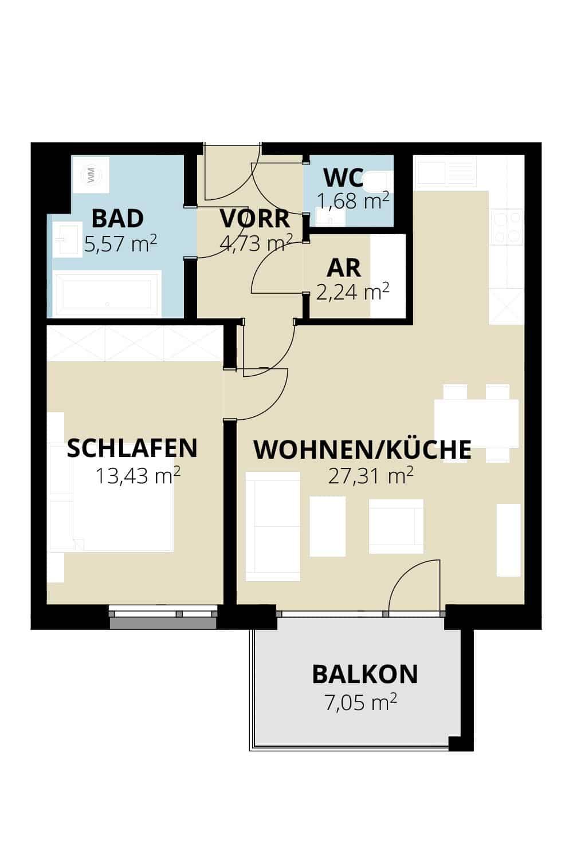 Immobilie von Wohnbau Bergland in Zentral und doch im Grünen Radstadt Top 12 #1