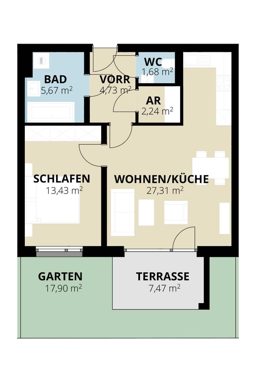 Immobilie von Wohnbau Bergland in Zentral und doch im Grünen Radstadt Top 8 #1