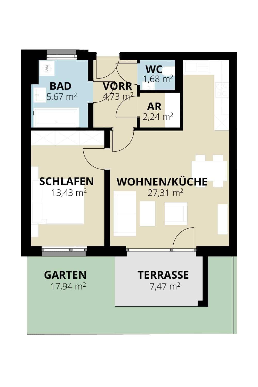 Immobilie von Wohnbau Bergland in Zentral und doch im Grünen Radstadt Top 9 #1
